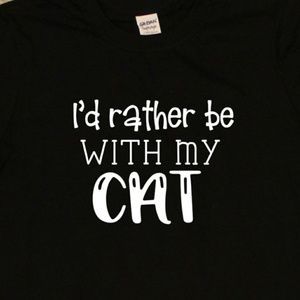I'd Rather Be With My Cat - unisex t-shirt